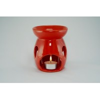 Ceramic Burner - Raindrop Design (Red)